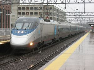 Amtrak Acela Express highspeed rail train