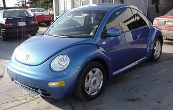 Bright Blue New Beetle TDI
